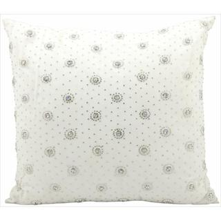 Mina Victory Luminescence Diamond Studs Ivory Throw Pillow (18-inch x 18-inch) by Nourison
