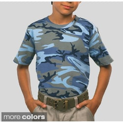Los Angeles Pop Art Youth Camouflage Cotton T-Shirt