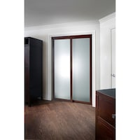 Sliding frosted glass fusion door with chocolate frame free pinecroft fusion frosted glass chocolate frame sliding mirror door planetlyrics Gallery