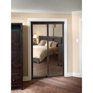 Pinecroft Fusion Chocolate Frame Sliding Mirror Door