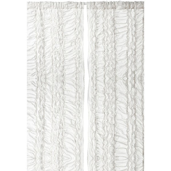 Shop Gray Petite Ruffle 96-inch Curtain Panel