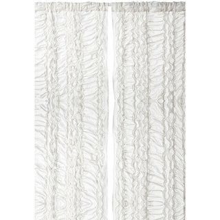 Gray Petite Ruffle 96-inch Curtain Panel