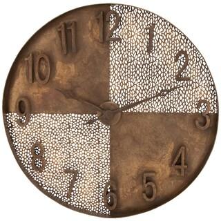 Creative Interpretation Bronze Metal Wall Clock