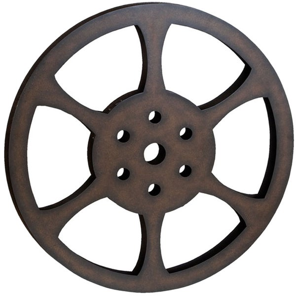 Hollywood 32 Inch Metal Film Reel Home Movie Theater Accent Decor