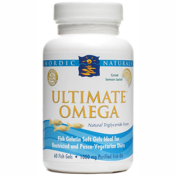 Ultimate Omega Lemon Fish Gels (60 Softgels)
