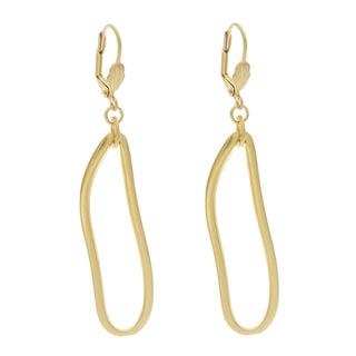 NEXTE Jewelry Goldtone Turkish Freeform Dangle Earrings