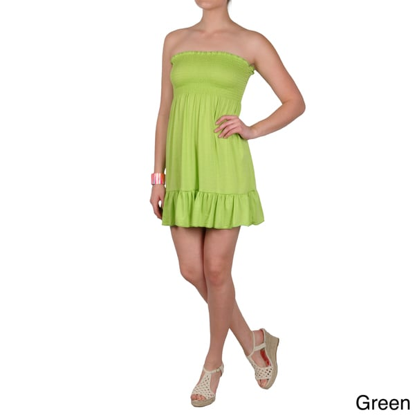 Journee Collection Juniors Ruffled Strapless Dress