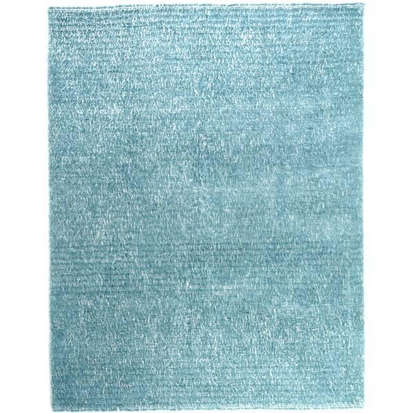 Ocean Blue Textured Area Rug