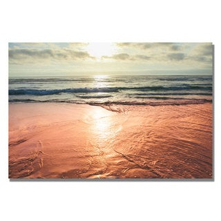 Ariane Moshayedi 'Sunset Beach Reflections' Canvas Art