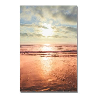 Ariane Moshayedi 'Sunset Beach Reflections II' Canvas Art