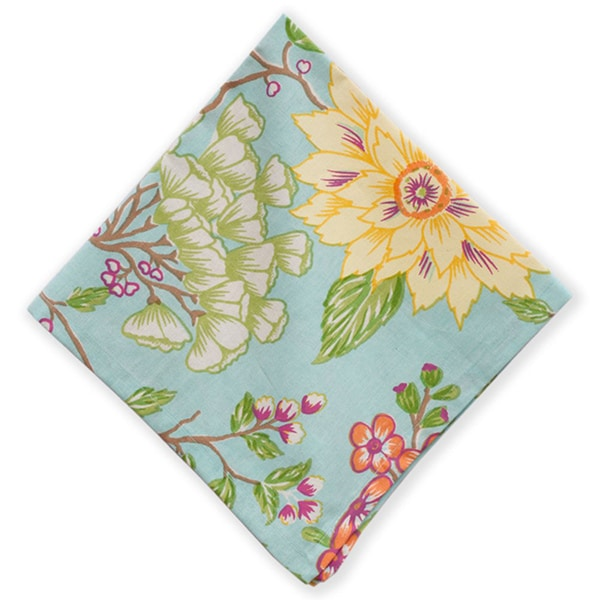 Mahogany Aqua Belle Set of 4 Napkins