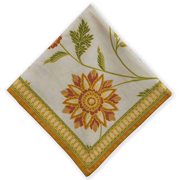Mahogany Orange 'Nell' Set of 4 Napkins