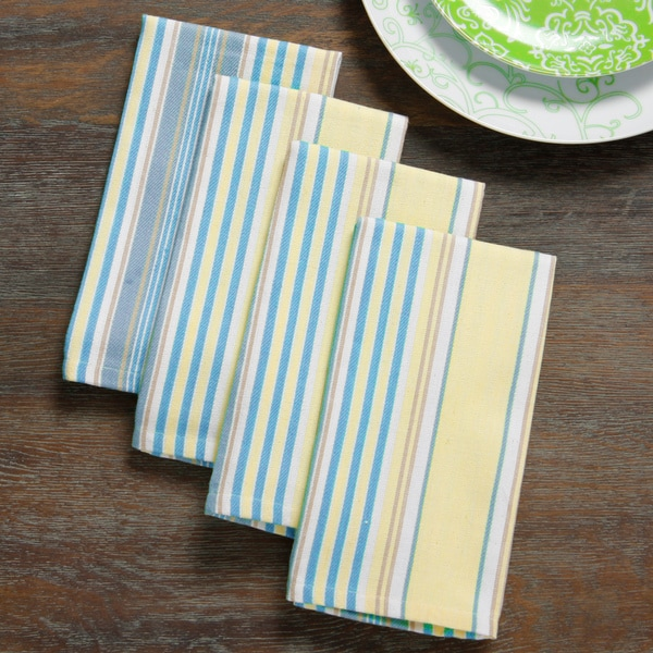Mahogany Yellow And Blue U0026#x27;Summer Stripeu0026#x27; Table Cloth Or