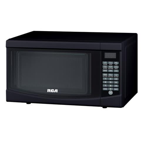 Curtis RCA Glossy Black 700-watt Microwave Oven