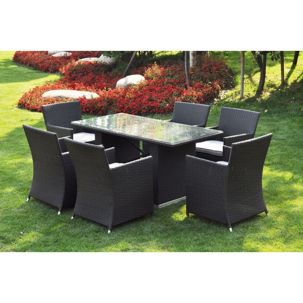 ... Patio Furniture; /; Outdoor Dining Sets. u0026#x27;Enau0026#x27; 7-piece Outdoor ...  sc 1 st  Overstock.com & Enau0027 7-piece Outdoor Dining Table Set - Free Shipping Today ...