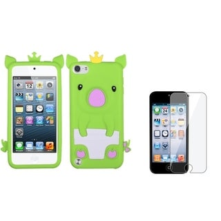 Insten Soft Silicone iPod Case Cover/ Clear LCD Screen Protector for Apple iPod Touch Generation 5th/ 6th