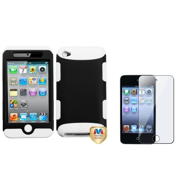 INSTEN Hybrid iPod Case Cover/ LCD Protector for Apple iPod Touch 4th Generation