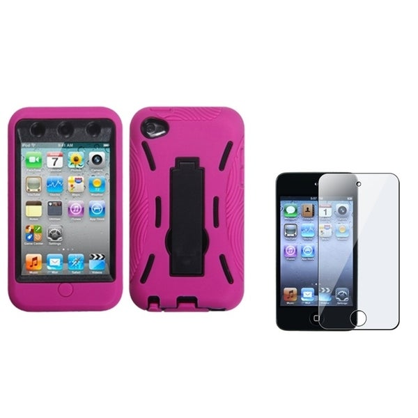 INSTEN Stand iPod Case Cover/ LCD Protector for Apple iPod Touch 4th Generation