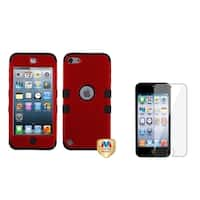 Insten Hybrid iPod Case Cover/ Clear LCD Screen Protector for Apple iPod Touch 5th/ 6th Generation