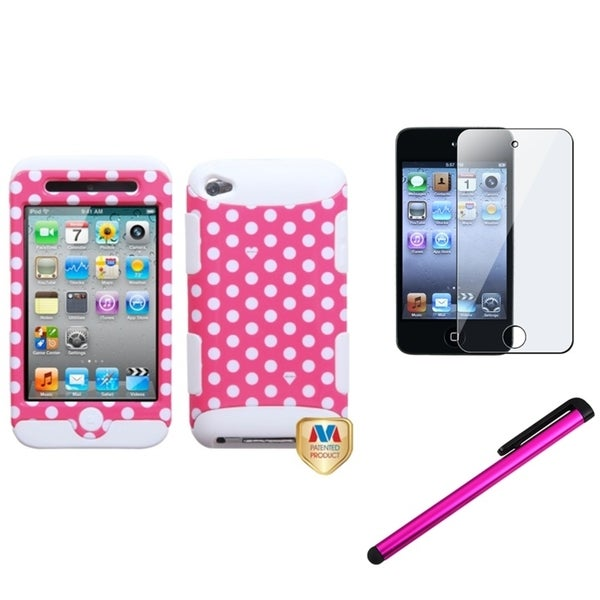 Insten iPod Case Cover/ Clear LCD Screen Protector/ Stylus for Apple iPod Touch 5th/ 6th Generation