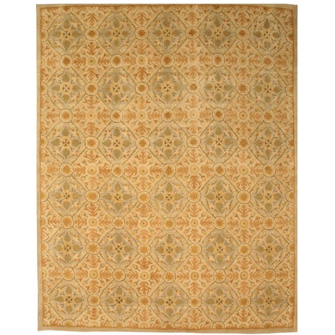 Hand-tufted Wool Ivory Traditional Oriental Kabul Rug - 6' x 9'
