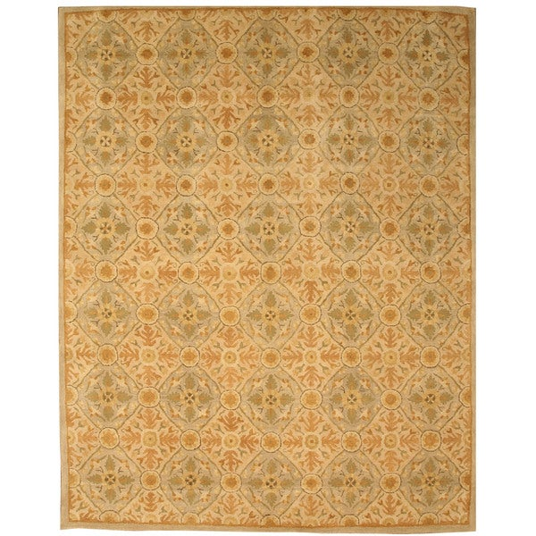 Hand Tufted Traditional Oriental Red Wool Rug With Non: Shop Hand-tufted Wool Ivory Traditional Oriental Kabul Rug