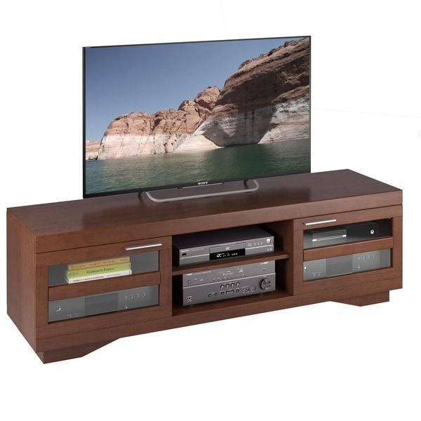 Sonax Granville Warm Cinnamon Wood Veneer 66-inch TV Bench