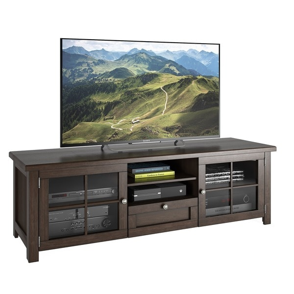 Sonax Arbutus Dark Espresso Stained Wood Veneer 63-inch TV Bench