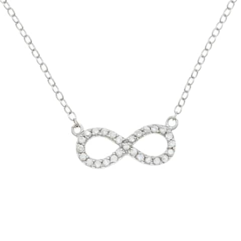 La Preciosa Sterling Silver Cubic Zirconia Children's Infinity Necklace