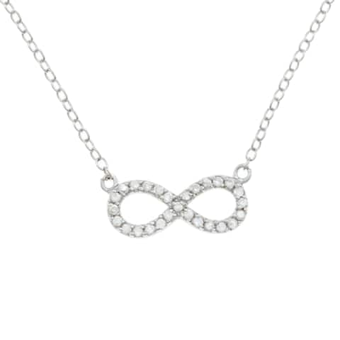 La Preciosa Sterling Silver Cubic Zirconia Children's Infinity Necklace