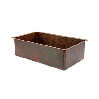 Premier Copper Products Hammered Copper 30-inch Single Basin Kitchen Sink