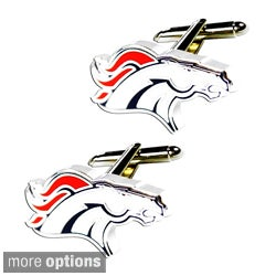 NFL 0.75-inch Cut Out Cufflinks Engraved Design Gift Box Set