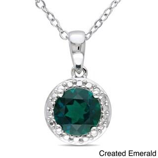 Miadora Sterling Silver Birthstone Necklace