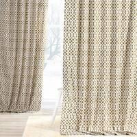 Exclusive Fabrics Nairobi Desert Printed Cotton Curtain Panel