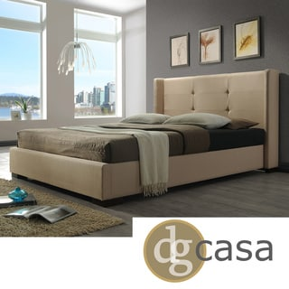 DG Casa Braden Cream Fabric-wrapped Bed