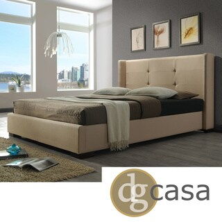 DG Casa Braden Cream Fabric-wrapped Bed (2 options available)