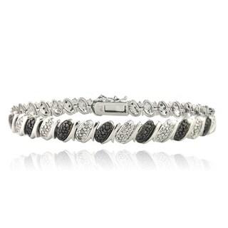 DB Designs Rhodium Plated 1ct TDW Diamond Pattern Bracelet (I-J, I2-I3)