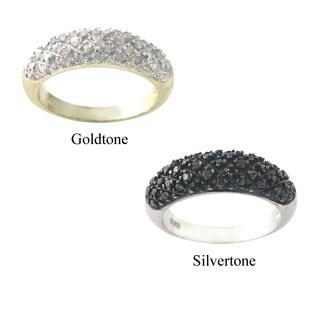 DB Designs Rhodium-plated 1/4ct TDW Black Diamond Ring