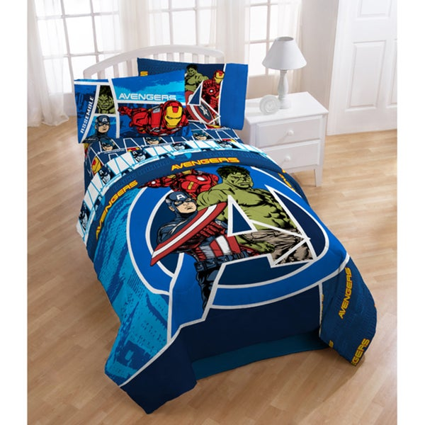 Avengers Team 5 Piece Bed In A Bag With Sheet Set