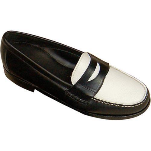 Men's David Spencer Shag Penny Loafer Black Waxy/White Floater