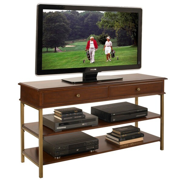St. Ives Media TV Stand Cinnamon Cherry Finish by Home Styles