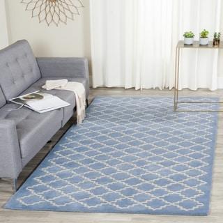 Safavieh Handmade Moroccan Chatham Light Blue Wool Rug (8'9 x 12')