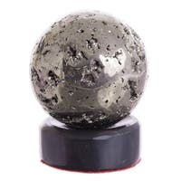 Pyrite and Onyx 'Reflections' Sphere (Peru) - N/A