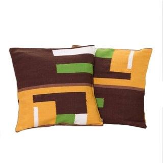 Handmade Alpaca Blend Andean Moon Set of 2 Cushion Covers (Peru)