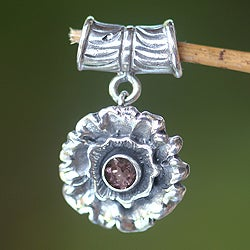 Handmade Sterling Silver 'February Violet' Amethyst Pendant (Indonesia)