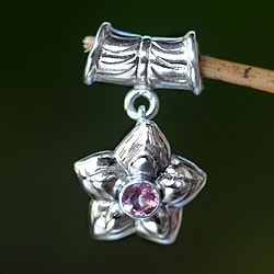 Sterling Silver 'October Marigold' Pink Tourmaline Pendant (Indonesia)