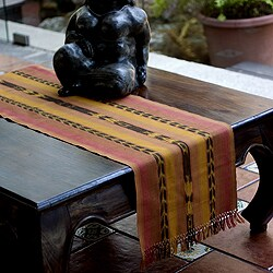 Handmade Cotton 'Maya Sunset' Table Runner (Guatemala)