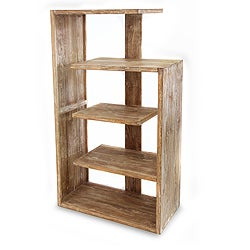 Handcrafted Teakwood 'Cream Menara' Bookcase (Indonesia)