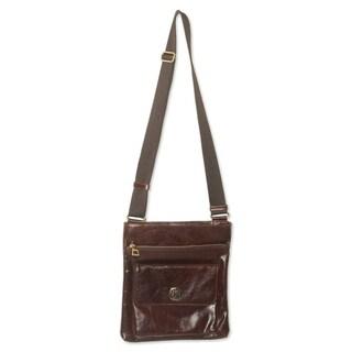 "Handmade Leather 'Arequipa Traveler' Medium Messenger Bag (Peru) - 11""x12.5"""