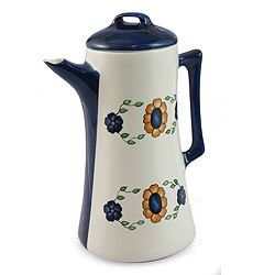 Handcrafted Ceramic 'Margarita' Coffee Pot (Guatemala)